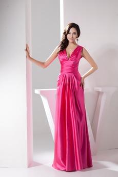 Φυσικό Ευρεία λουριά Επίσημη Σατέν Αυτοκρατορία Βραδινά φορέματα