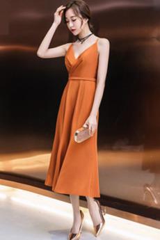 Φυσικό Άνοιξη Σατέν δραματική Χιαστί Γραμμή Α Κοκτέιλ φορέματα