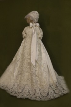 Κοντομάνικο Κόσμημα Επίσημη Τονισμένα τόξο Φόρεμα Βάπτισης