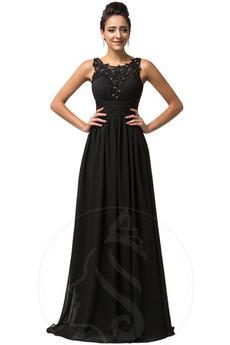 Γραμμή Α Φερμουάρ επάνω Σιφόν Τετράγωνο Δαντέλα επικάλυψης Βραδινά φορέματα