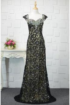 Γραμμή Α Από τον ώμο Προσαρμοσμένες μανίκια Βραδινά φορέματα