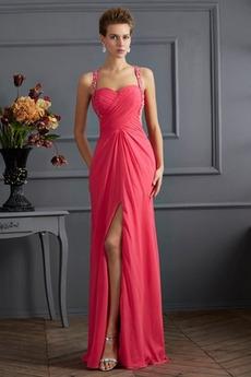 Αμάνικο Σέξι Γραμμή Α Μπροστινό Σκίσιμο Φυσικό Μπάλα φορέματα