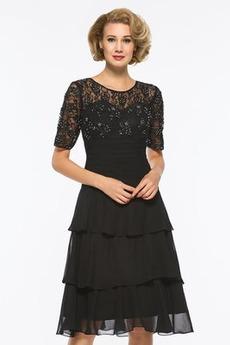 Καλοκαίρι Κοντομάνικο Μίνι Γραμμή Α Ψευδαίσθηση Μητέρα φόρεμα