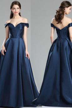Κοντομάνικο Οι πτυχωμένες μπούστο Ανάποδο Τρίγωνο Μπάλα φορέματα