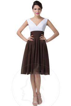 απλός Πλισέ Αμάνικο Καλοκαίρι Χάνει Λαιμόκοψη V Βραδινά φορέματα