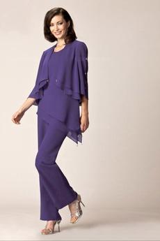 Πλαϊνό Ντραπέ Επικάλυψη μπούστο Μέχρι τον αστράγαλο Παντελόνι κοστούμι φόρεμα