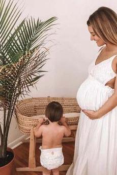 Νυφικά Εγκυμοσύνη Καλοκαίρι Αμάνικο Μέση αυτοκρατορία Βαθιά v-λαιμός