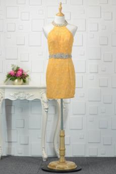 Δαντέλα Κοντό Χάνει Φθινόπωρο Δαντέλα επικάλυψης Βραδινά φορέματα