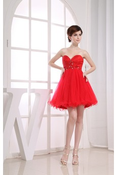 fce8dfec8e83 Αμάνικο Τούλι Διακοσμημένες με χάντρες ζώνη Κοκτέιλ φορέματα