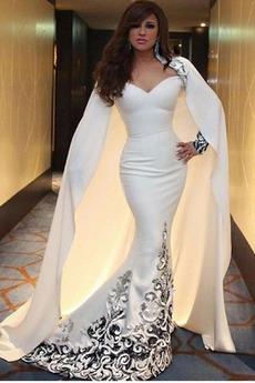 Βραδινά φορέματα Μακρύ Φυσικό Φερμουάρ επάνω Λαιμόκοψη V Επίσημη Δαντέλα