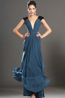 Αμάνικο Σιφόν Καλοκαίρι Μήλο Πολυτελές Θήκη Βραδινά φορέματα