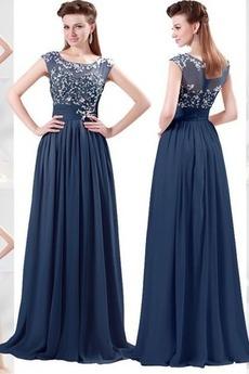 Καλοκαίρι Προσαρμοσμένες μανίκια Πορτρέτο Βραδινά φορέματα
