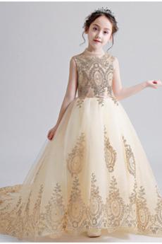 Φυσικό Παλιάς χρονολογίας Ψευδαίσθηση Γραμμή Α Λουλούδι κορίτσι φορέματα