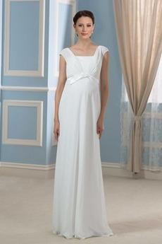 Ύπαιθρος Τετράγωνο Μέση αυτοκρατορία Πλισέ Βραδινά φορέματα