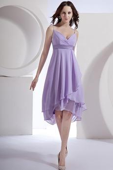 Σιφόν Μπροστινό Σκίσιμο σικ Μέση αυτοκρατορία Παράνυμφος φορέματα
