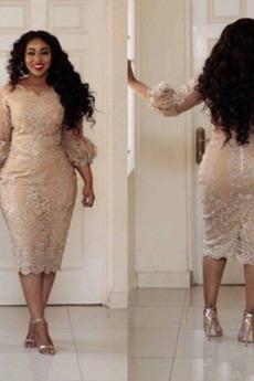 Δαντέλα Ψευδαίσθηση Κομψό Φερμουάρ επάνω Κοκτέιλ φορέματα