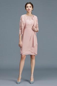 Μακρύ Μανίκι Κομψό Μέχρι το Γόνατο Άνοιξη Μητέρα φόρεμα