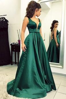 Μακρύ Σατέν Τονισμένα τόξο Επίσημη Τόξο Γραμμή Α Μπάλα φορέματα