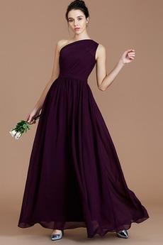 Τα μέσα πλάτη σικ Φυσικό Ντραπέ Αμάνικο Έτος 2019 Παράνυμφος φορέματα