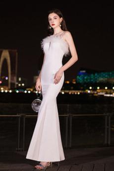 Μπάλα φορέματα εξώπλατο Μέχρι τον αστράγαλο Κομψό & Πολυτελές Φυσικό