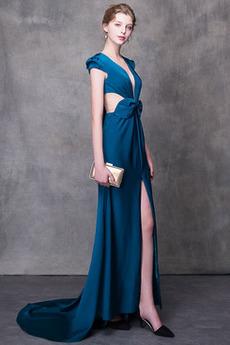 Φυσικό Τόξο Πολυτελές Αμάνικο Τονισμένα τόξο Μπάλα φορέματα