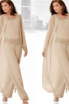 Υψηλή καλύπτονται Χάντρες Κλεψύδρα Κομψό Παντελόνι κοστούμι φόρεμα