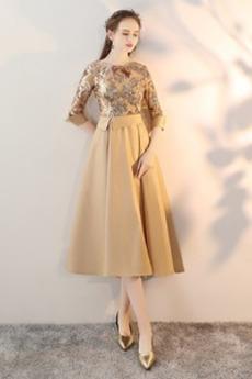 παγιέτες μπούστο Λάμψη Γραμμή Α Φθινόπωρο Κοκτέιλ φορέματα