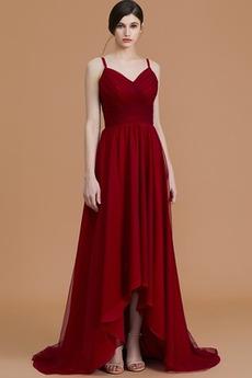 Γραμμή Α Καλοκαίρι Σιφόν Οι πτυχωμένες μπούστο Παράνυμφος φορέματα
