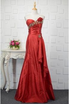 Φυσικό Χάντρες Ελαστικό σατέν αγαπημένος Βραδινά φορέματα
