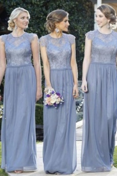 Γραμμή Α Ντραπέ Χάνει Κομψό Φερμουάρ επάνω Παράνυμφος φορέματα