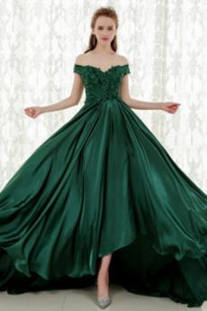 Γραμμή Α Κοντομάνικο Μπροστινό σχισμή Μακρύ Μπάλα φορέματα