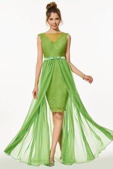 Δαντέλα επικάλυψης Καλοκαίρι Καθαρή πλάτη Μπάλα φορέματα