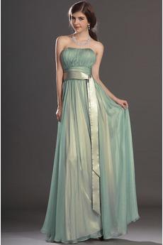 Φερμουάρ επάνω Κορδέλες Κομψό Άνοιξη Σιφόν Βραδινά φορέματα