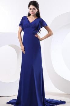 Κοντομάνικο Αυτοκρατορία Μέτρια Ράσο μανίκια Μητέρα φόρεμα