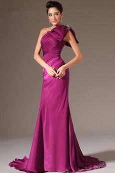 Κομψό Τονισμένα τόξο Σιφόν Τα μέσα πλάτη Βραδινά φορέματα