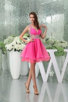 Καλοκαίρι Ευρεία λουριά Φυσικό Γραμμή Α Αμάνικο Κοκτέιλ φορέματα