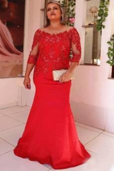 Μητέρα φόρεμα Δαντέλα Δαντέλα επικάλυψης Φθινόπωρο 3/4 Μήκος Μανικιού