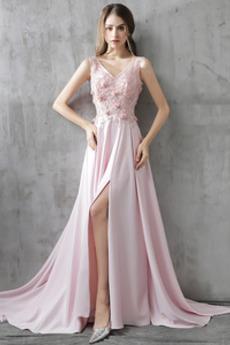 Αμάνικο Διακοσμητικά Επιράμματα Επίσημη Φυσικό Μπάλα φορέματα