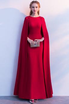 Βραδινά φορέματα Χάντρες Φθινόπωρο Ρετρό Υψηλή καλύπτονται Ελαστικό σατέν