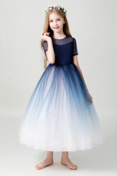Κοντομάνικο Φυσικό Χάνει Γραμμή Α κούνια Λουλούδι κορίτσι φορέματα