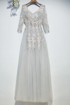 Φυσικό εξώπλατο Τούλι Καλοκαίρι Κοντομάνικο Παράνυμφος φορέματα