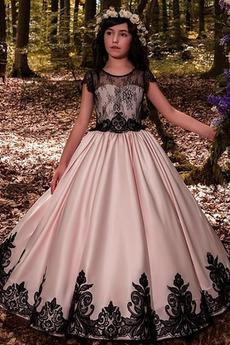Φυσικό Μήκος πατωμάτων Χάνει Γραμμή Α Κόσμημα Λουλούδι κορίτσι φορέματα