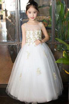 Φερμουάρ επάνω Φυσικό Καλοκαίρι Χάνει Γραμμή Α Λουλούδι κορίτσι φορέματα