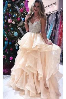 Μπάλα φορέματα εξώπλατο Φυσικό Γραμμή Α Χειμώνας Λαιμόκοψη V Ρομαντικό