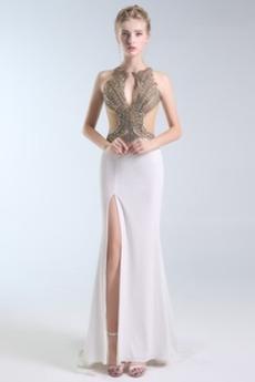 Μπροστινό Σκίσιμο Κόσμημα Λάμψη Γραμμή Α Μπάλα φορέματα
