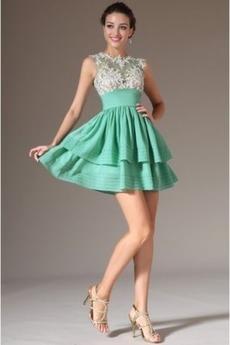 Πλισέ Καλοκαίρι άτυπος Χάνει Φυσικό Κοντό Μπάλα φορέματα