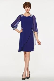 9a09cc5431ef σικ Σιφόν Χαλαρά μανίκια Χάντρες Γραμμή Α Μητέρα φόρεμα