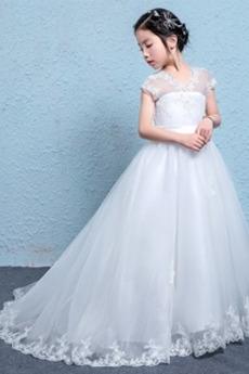Επίσημη Άνοιξη Χάνει Γραμμή Α Φυσικό Δαντέλα Λουλούδι κορίτσι φορέματα