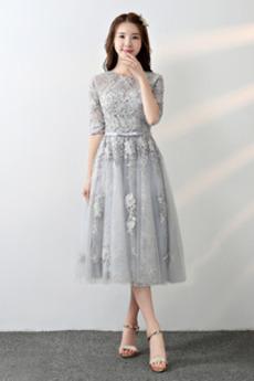 Κόσμημα Χάνει Ψευδαίσθηση Το μήκος τσάι Τόξο Παράνυμφος φορέματα