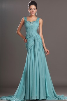 Χαμηλή Μέση Λαμπερό Ευρεία λουριά Καλοκαίρι Μπάλα φορέματα